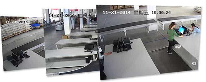 仓库传送带物品高清监控系统
