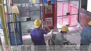 100万像素-建筑工地施工货梯门口高清监控演示