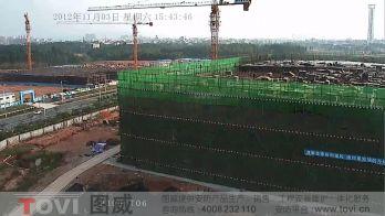 100万像素-东莞松山湖华为工厂建筑工地塔吊高清视频监控录像演示