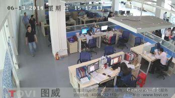 200万像素-某企业办公室超清视频监控效果录像演示