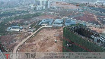 100万像素-深圳高新西中建五局施工现场塔吊安装高速球监控演示