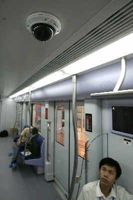 上海地铁站的摄像头 图 中国弱电门户网 1号线:汉中