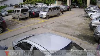 100万像素-广州某停车场通道安装网络高清摄像机录像效果演示