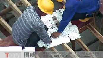 100万像素-建筑工地塔吊安装高清高速球超清监控建筑作业