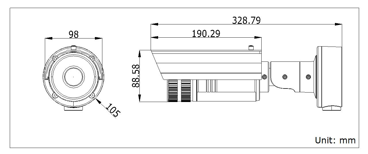 海康威视 DS-2CD4212FWD-I(Z)(H)(S)摄像机尺寸