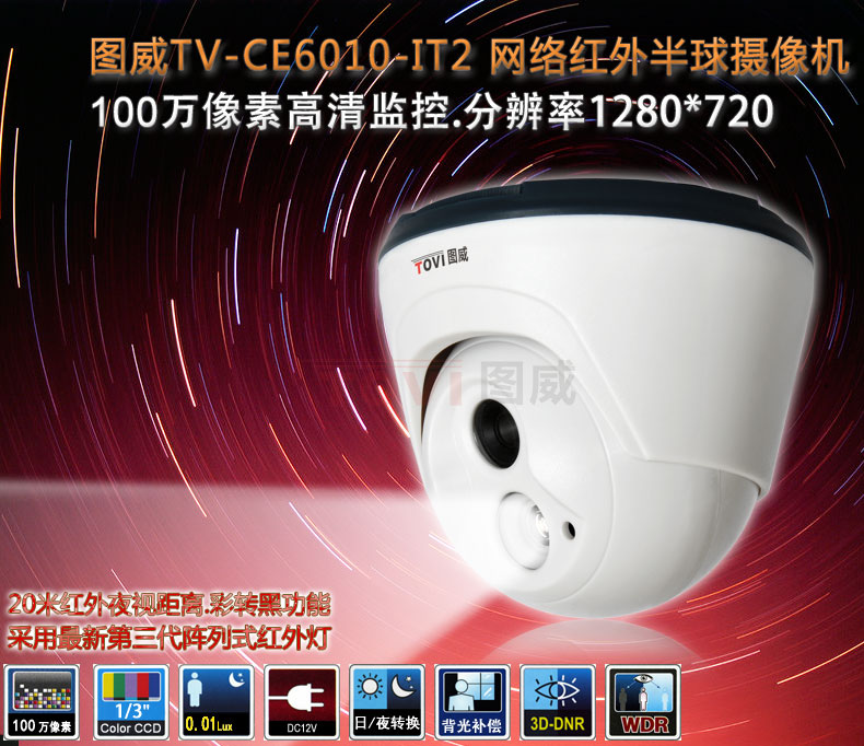 图威TV-CE6010-IT2半球网络摄像机主图