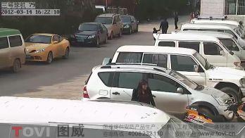 100万像素-数字高清网络高速球停车场周边监控录像演示