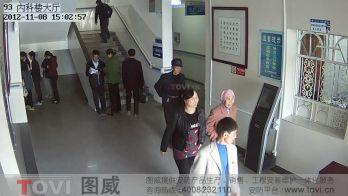 100万像素-高清网络摄像机楼梯口监控录像效果演示