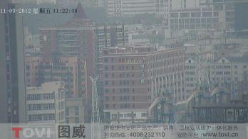 100万像素-广州琶洲保利建筑工地塔吊高清高速球监控效果演示