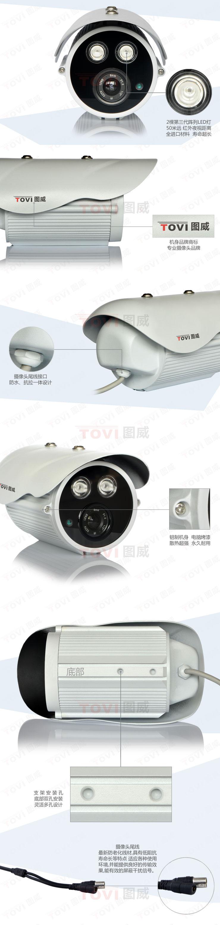 图威TV-CC2D15-IT5摄像机展示