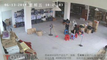 200万像素-某小型仓库超清视频监控效果录像演示